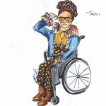 Teddi, drawn by Mallory Kay Nelson.
