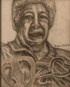 A Storyteller's Legacy: In Loving Memory of Grandpa John F. Papaleo (September 20, 1926 - November 11, 2019), a graphite pencil drawing by Christina Papaleo.