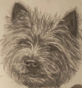 Faithful Friend, a graphite pencil drawing by Christina Papaleo.