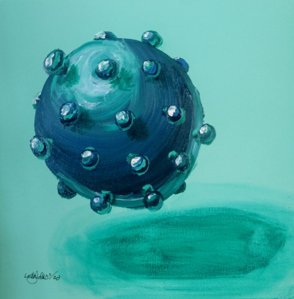 Artist representation of Corona virus