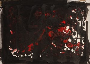 """""""Image 1,"""" 38 inches× 22 inches, watercolor on paper."""